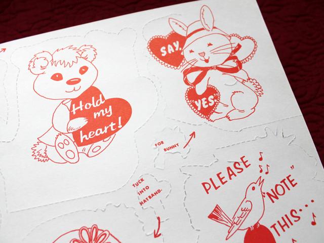 vintage valentines sixties back image