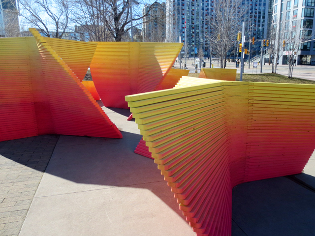 Toronto waterfront ice breakers interactive art installations winter fanfare by thena tak from vancouver canada