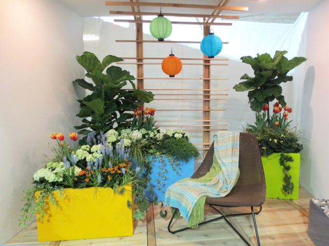 balcony garden at canada blooms horticulture show toronto