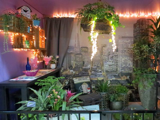 balcony garden movie night in technicolour at canada blooms garden show toronto