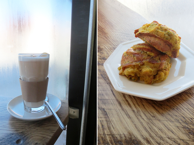 chai latte and stratta scones at noble coffee co bloor street toronto bloordale junction triangle
