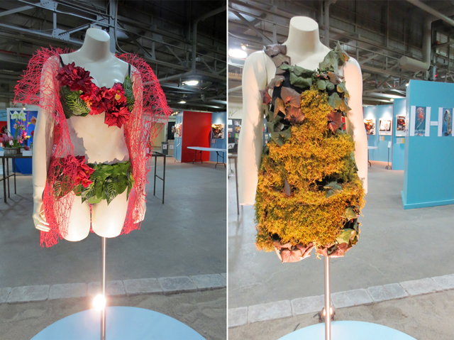 clothings made from organic elements canada blooms horticulture show toronto