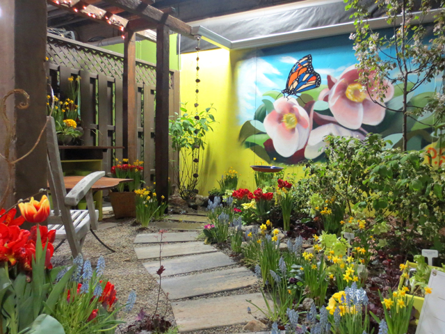 do up the backsteps garden lost treasure island at canada blooms toronto