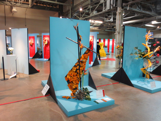 exhibition of small floral pieces at canada blooms horticulture festival toronto