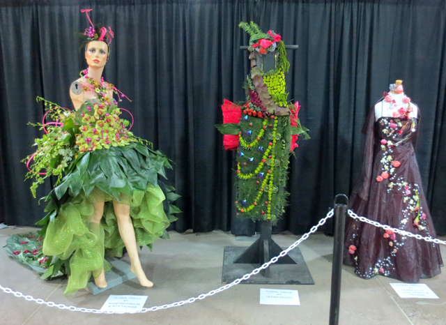 floral dresses at canada blooms garden show toronto