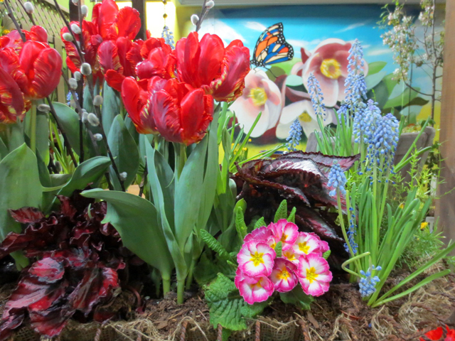 flowers at canada blooms garden show toronto