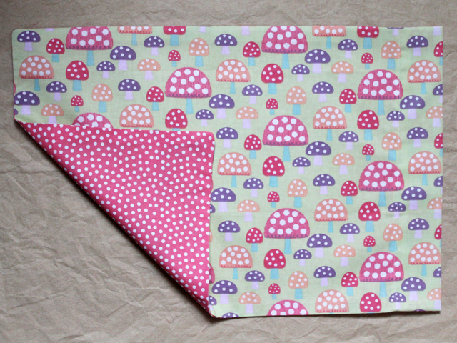 handmade pillow case for small child sized pillow