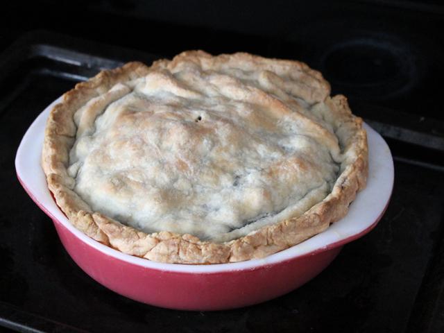 homemade blueberry pie for pi day