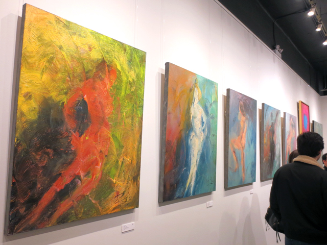jin zuo artwork at c9 gallery toronto