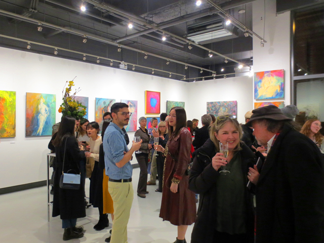 opening night c9 art gallery yorkville toronto
