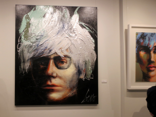 painting andy warhol by corno at c9 gallery toronto art yorkville
