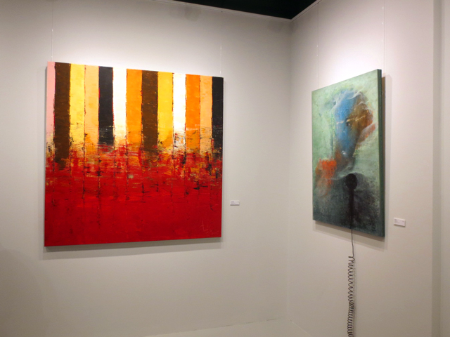 paintings by jin zuo at c9 art gallery toronto