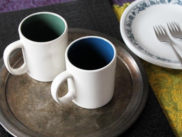thrifted coffee mugs