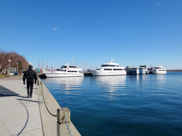 walking along toronto waterfront