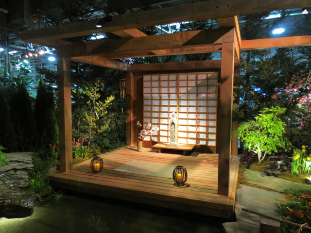 zen garden at canada blooms horticulture show toronto