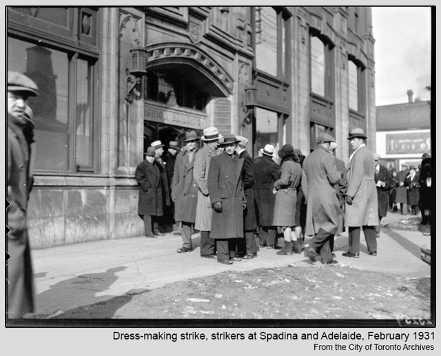 Toronto Historic Photograph The Fashion Building Spadina Avenue 1931