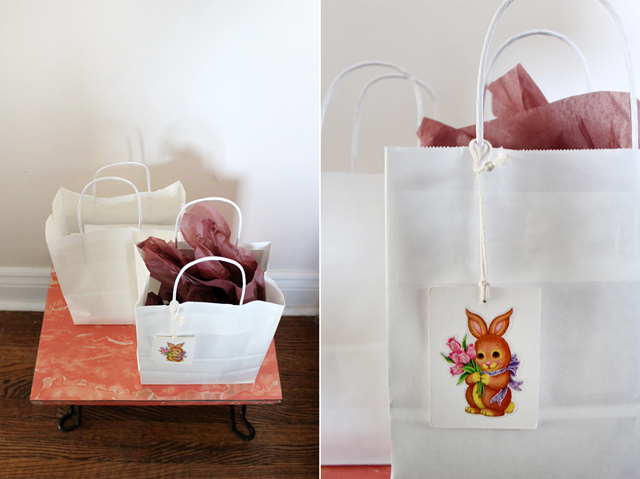 bags with easter treats
