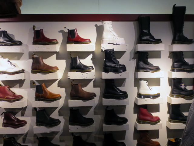 boots in dr martens store queen street west toronto