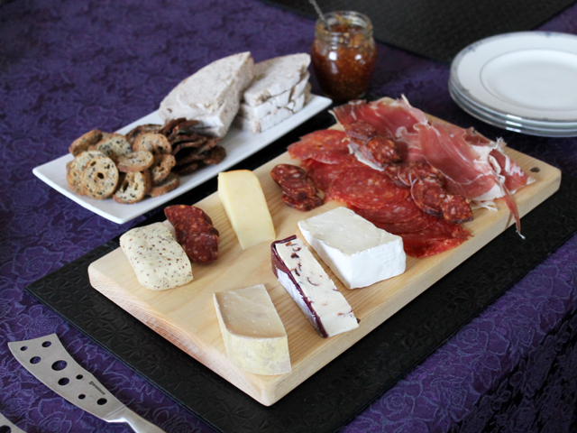charcuterie board with ingredients from maxs market bloor west village toronto gourmet grocer