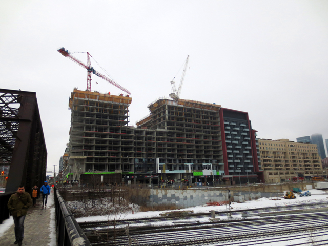 condo building going up bathurst and niagara toronto