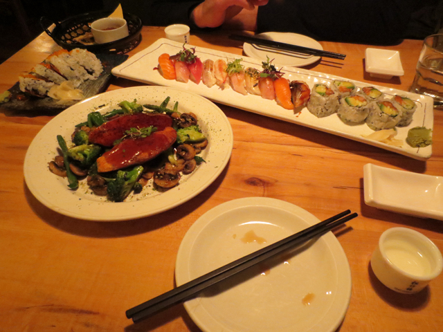 dinner at saku sushi queen street west toronto