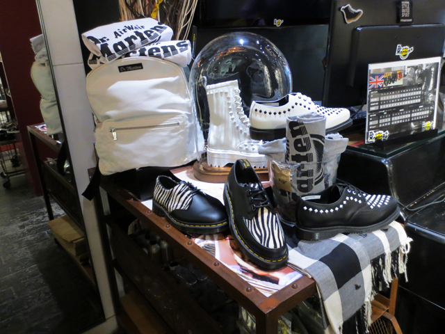 display at dr martens shop queen street west toronto