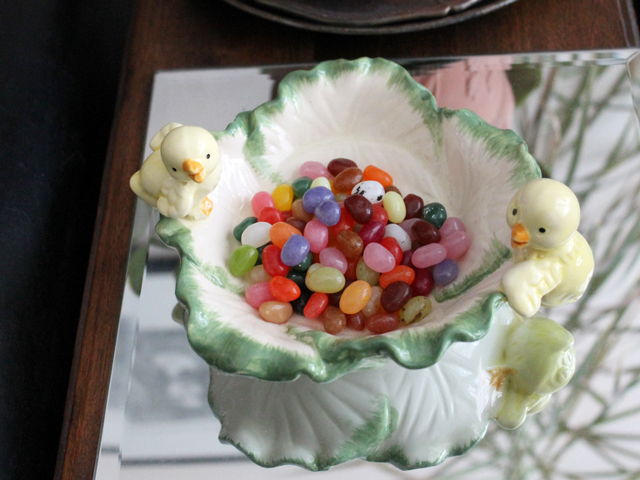 easter candy dish with carnaby street gourmet jelly beans