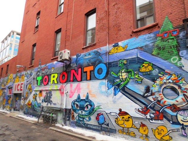 graffiti mural by uber5000 off queen street west toronto