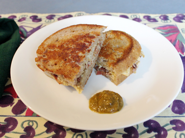 grilled cheese sandwich on homemade sourdough rye with selfmade starter