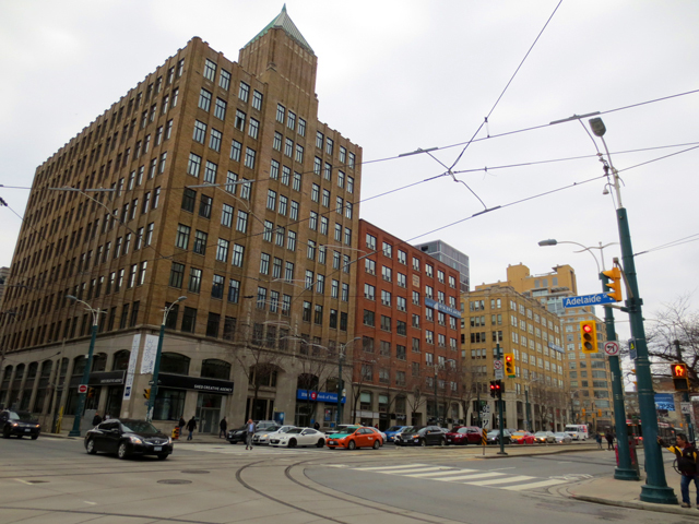 historic buildings on spadina avenue south of queen street west toronto