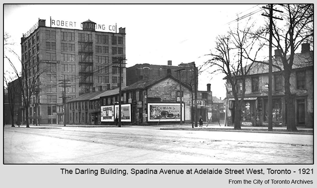 historic photograph of the darling building spadina and adelaide toronto