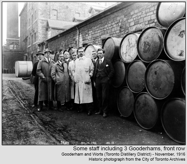 historic photograph toronto distillery district 1916 some staff including three gooderhams