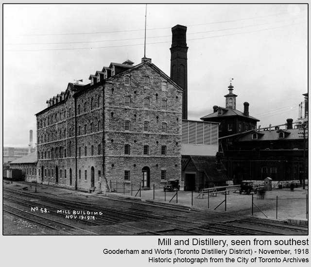 historic photograph toronto distillery district 1918 mill and distillery
