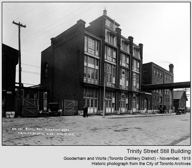historic photograph toronto distillery district 1918 trinity street still building