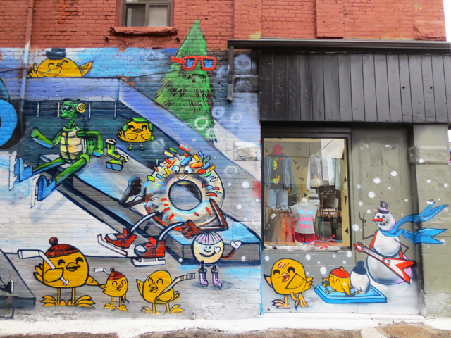 mural graffiti by uber5000 queen street west toronto