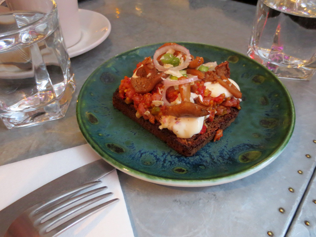 open face sandwich at drake commissary