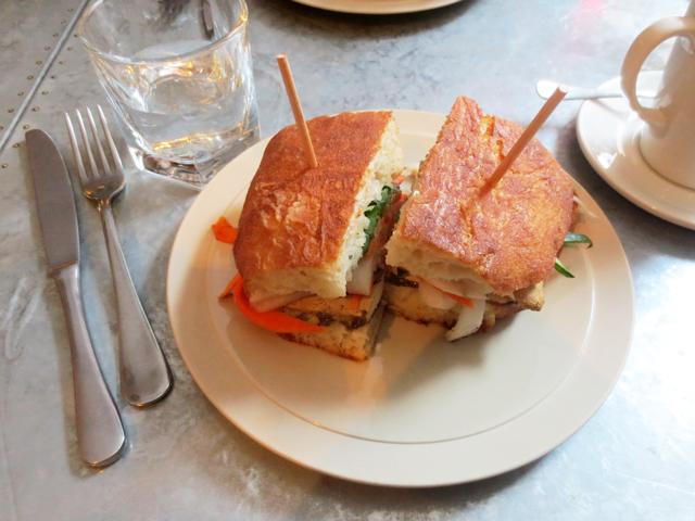 tofu banh mi sandwich at drake commissary toronto