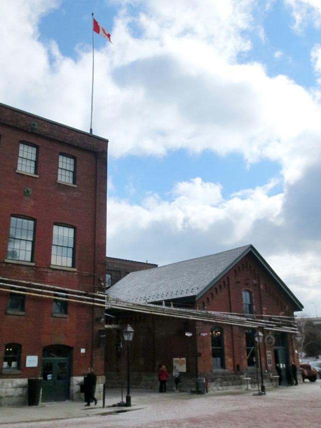 toronto distillery district former pump house now balzacs coffee shop