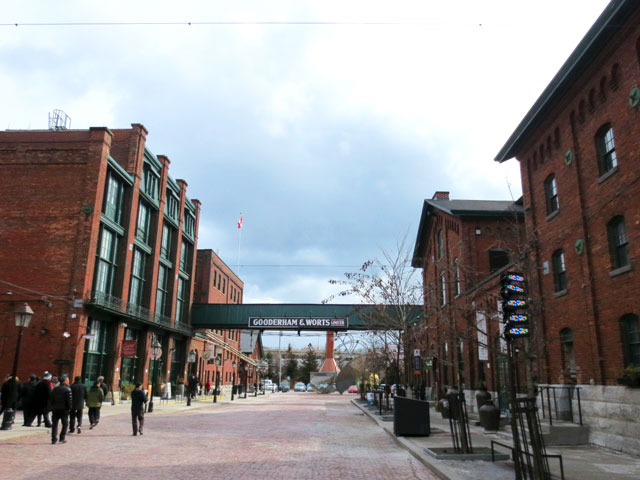 toronto distillery district looking south