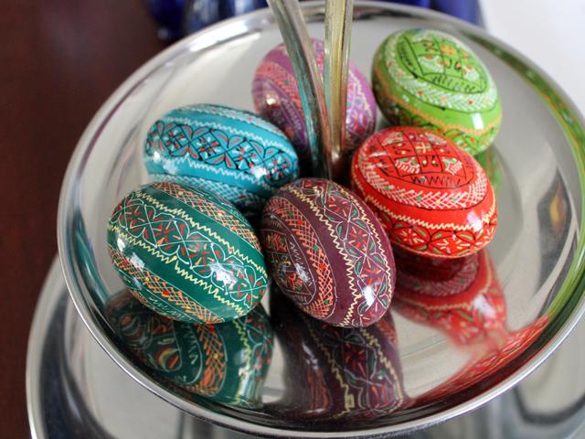 ukrainian pyzanka painted easter eggs
