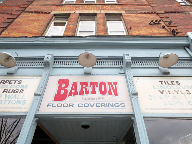 bartons floor coverings sign queen street west parkdale toronto