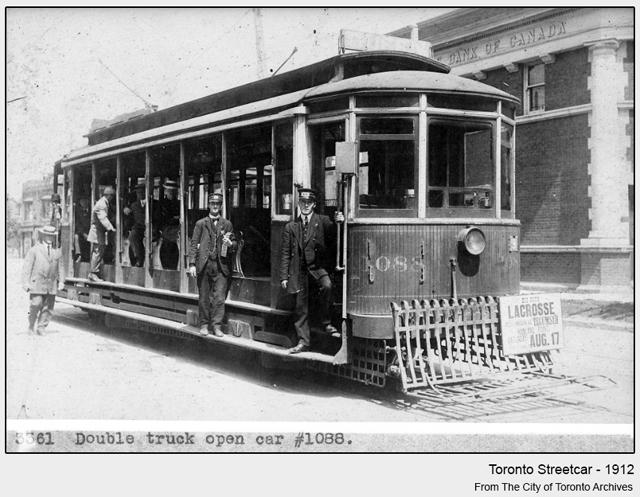 historical photograph toronto streetcar 1912