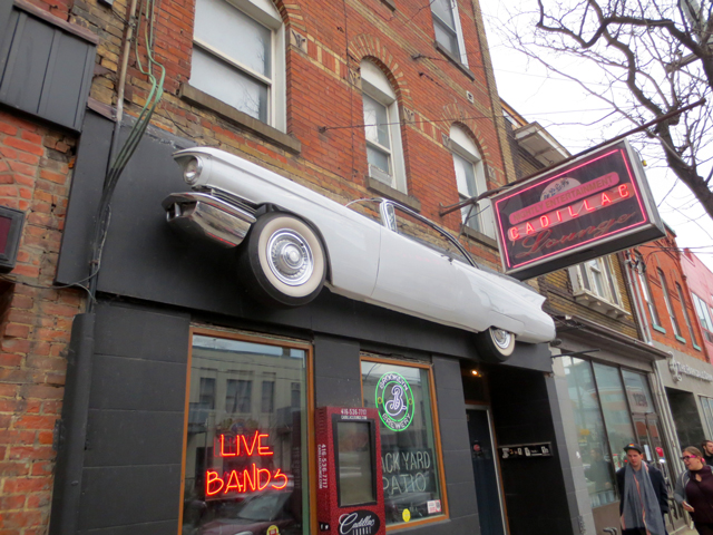 outside the cadillac lounge queen street west toronto parkdale