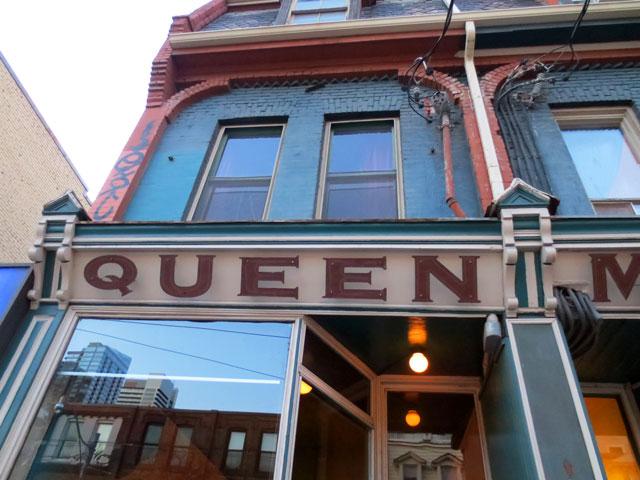 queen mother cafe sign queen street west toronto