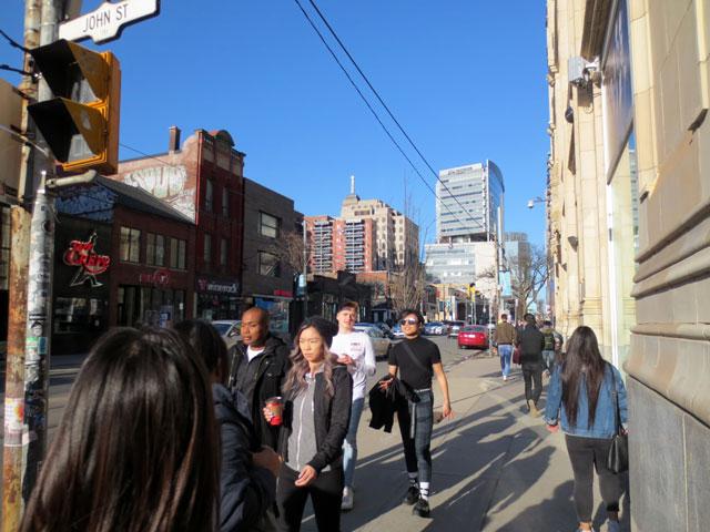 queen street west at john street toronto