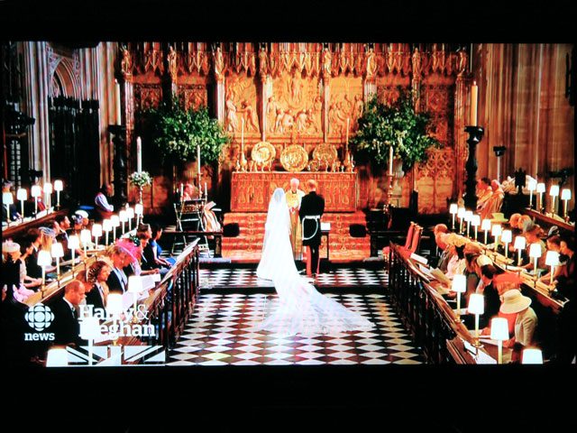 screen shot of royal wedding