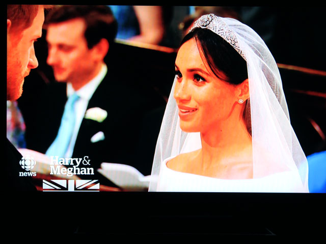 snap of television royal wedding harry and meghan