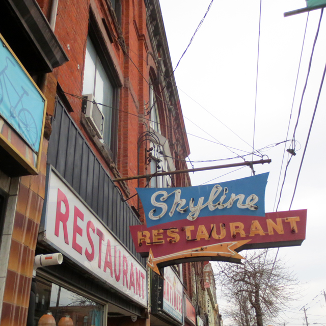 the skyline restaurant sign parkdale toronto