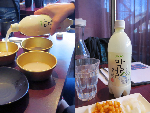 Makgeolli korean sparkling rice wine at hancook in toronto