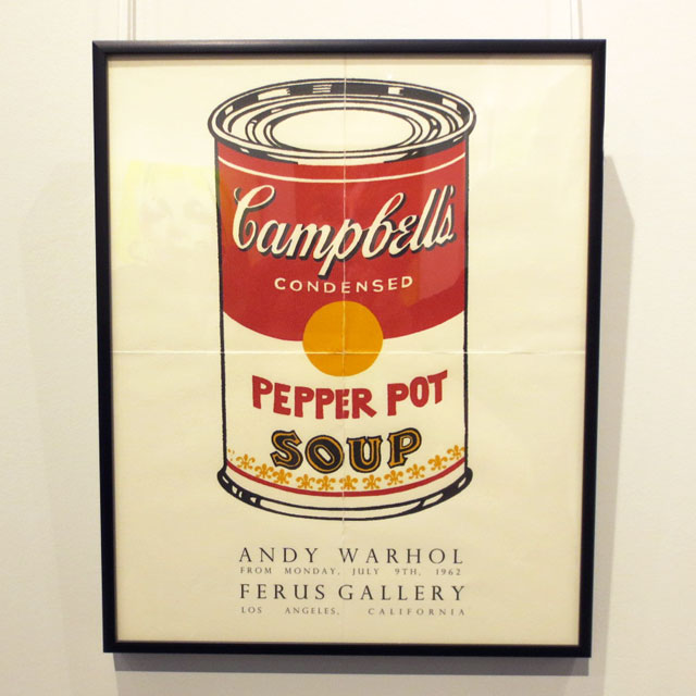 andy warhol poster first show of soup cans on display at c9 gallery toronto